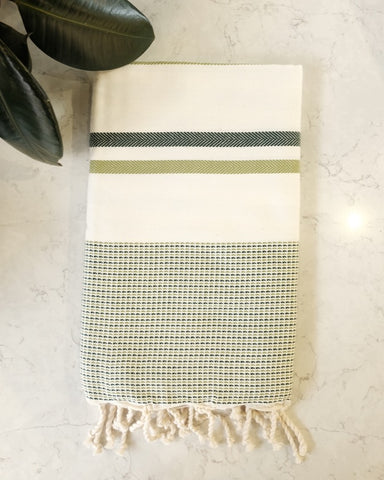 Turkish Beach Towel, Grass Green