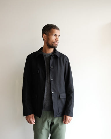 Lined Melton Wool Jacket