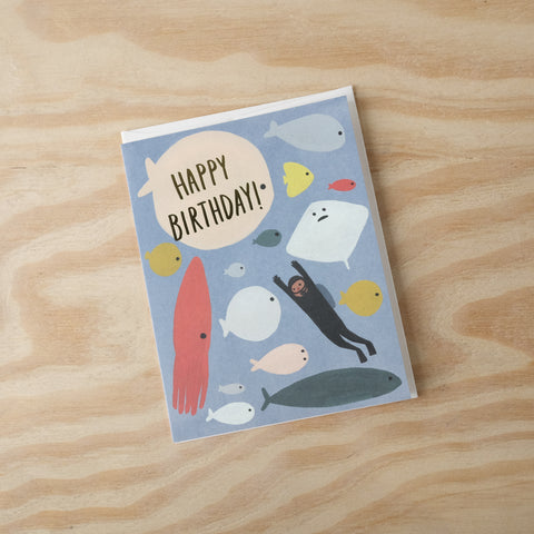 Underwater Birthday Card