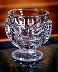 Glass Tiki Mug, 14 oz / Happy & Sad