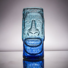 Moai Glass Tiki Glass Tiki Mug, 13 oz.