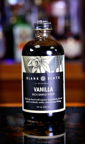Vanilla Rich Simple Syrup by Blank Slate Kitchen, 8 oz