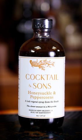 Honeysuckle & Peppercorns Syrup by Cocktail & Sons, 8 oz