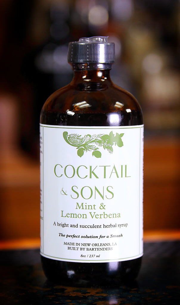 Mint & Lemon Verbena Syrup by Cocktail & Sons, 8 oz