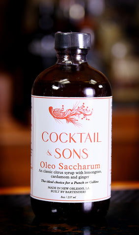 Oleo Saccharum Syrup by Cocktail & Sons, 8 oz