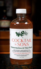 Cocktail & Sons Watermelon Thai Basil Syrup, 8 oz
