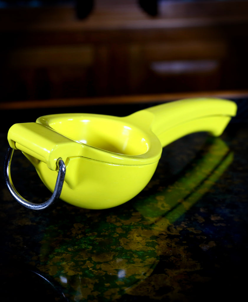 Enameled Lemon Squeezer, Yellow