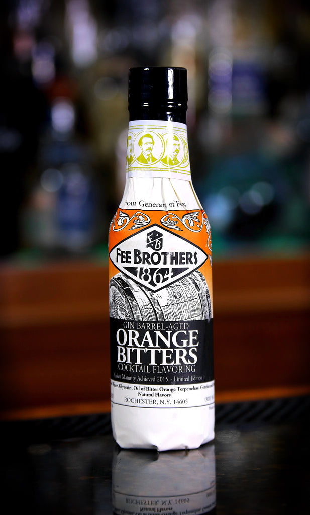 Fee Brothers Gin Barrel-Aged Orange Bitters, 5 oz. Bottle
