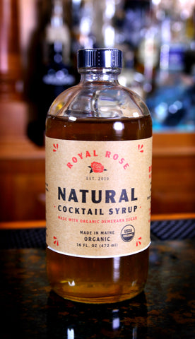 Natural Demerara Cocktail Syrup, by Royal Rose | USDA Certified Organic