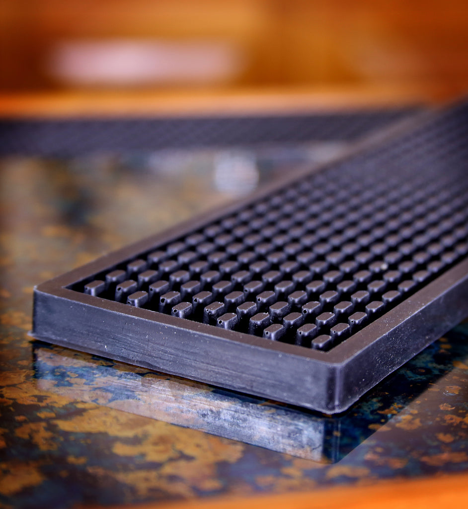 Heavy Duty Bar Rail Mat, 24x3.5 Inches