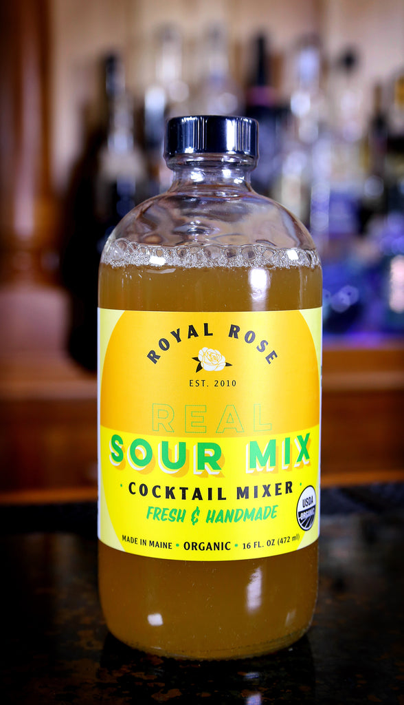 Real Sour Mix Cocktail Mixer, by Royal Rose | USDA Certified Organic