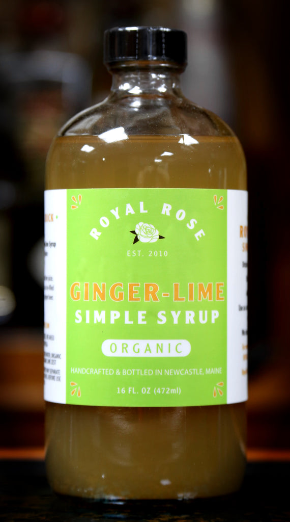 Ginger Lime Simple Syrup, by Royal Rose | USDA Certified Organic