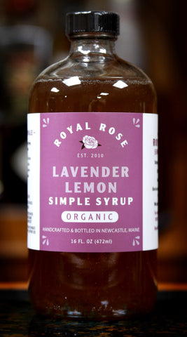 Lavender Lemon Simple Syrup, by Royal Rose | USDA Certified Organic