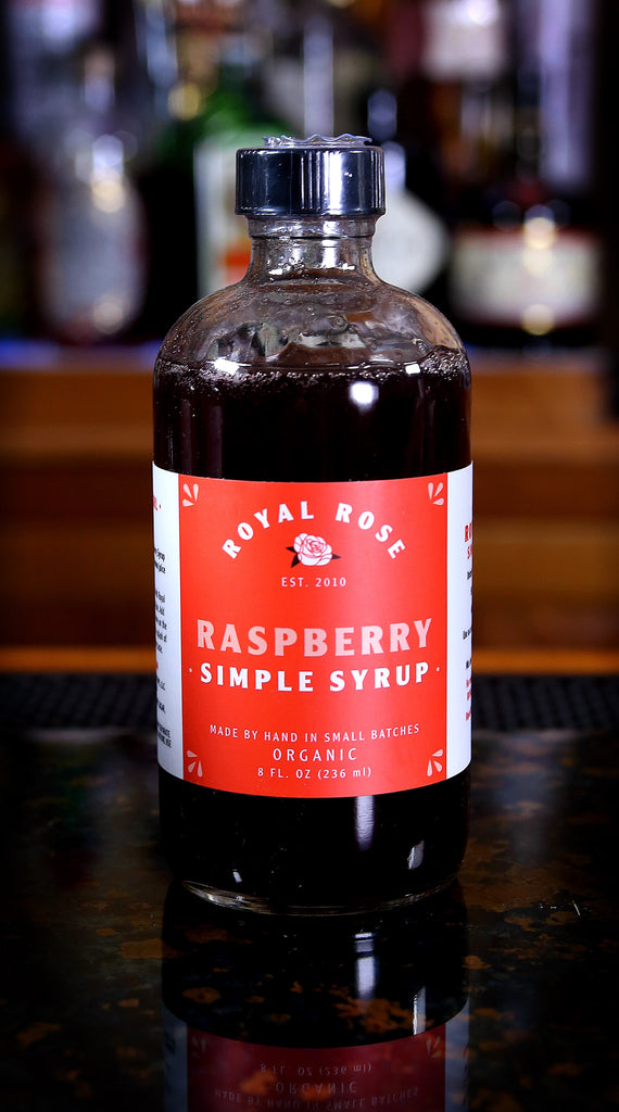 Raspberry Simple Syrup, by Royal Rose | USDA Certified Organic