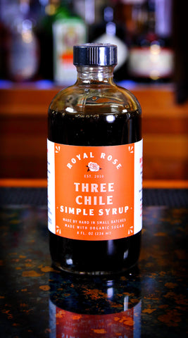 Three Chile Simple Syrup, by Royal Rose | USDA Certified Organic
