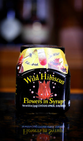 Wild Hibiscus Flowers in Syrup, 11 Flowers