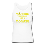 Women's Longer Length Fitted Tank - white