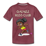 Kids' Premium T-Shirt - heather burgundy