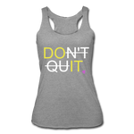 Women's Tri-Blend Racerback Tank - heather gray