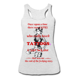Women's Tri-Blend Racerback Tank - heather white