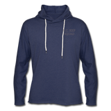 Unisex Lightweight Terry Hoodie - heather navy