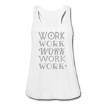 Women's Flowy Tank Top by Bella ( Glittery ) - white