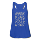 Women's Flowy Tank Top by Bella ( Glittery ) - royal blue