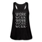 Women's Flowy Tank Top by Bella ( Glittery ) - black