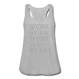 Women's Flowy Tank Top by Bella ( Glittery ) - heather gray