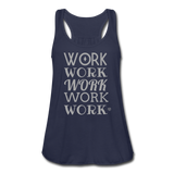 Women's Flowy Tank Top by Bella ( Glittery ) - navy