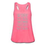 Women's Flowy Tank Top by Bella ( Glittery ) - neon pink