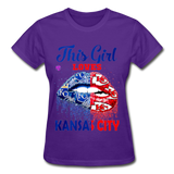 Gildan Ultra Cotton Ladies T-Shirt - purple