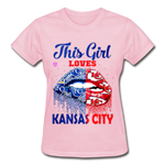 Gildan Ultra Cotton Ladies T-Shirt - light pink