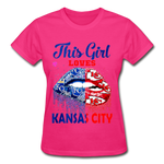 Gildan Ultra Cotton Ladies T-Shirt - fuchsia