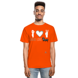 Men Tagless T-Shirt - orange