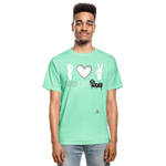 Men Tagless T-Shirt - deep mint