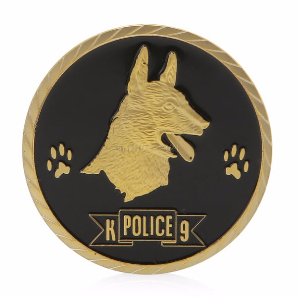 In Dogs We Trust With Paws we Bust K9 Challenge Coin