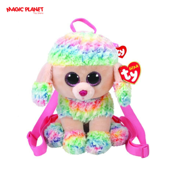 TY Fashion Rainbow Dog With Rainbow Hair + Bag (24 CM)