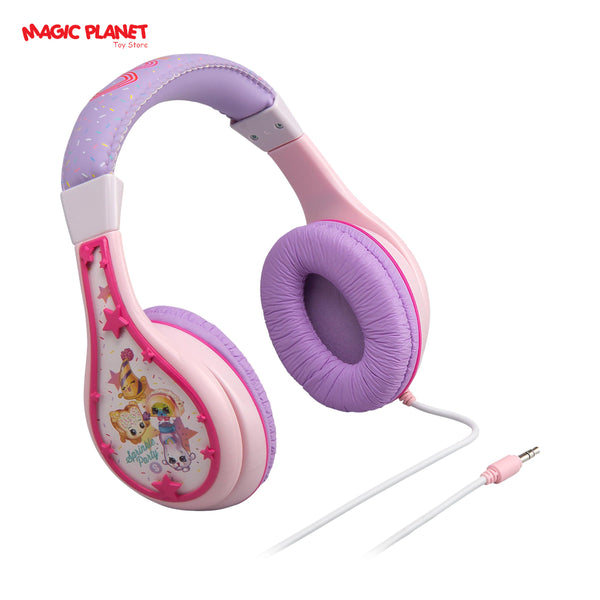 Shopkins SN-140 Youth Friendly Stereo Character Headphones, Pink