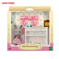 SYLVANIAN FAMILIES - Rabbit Sister With Piano Set