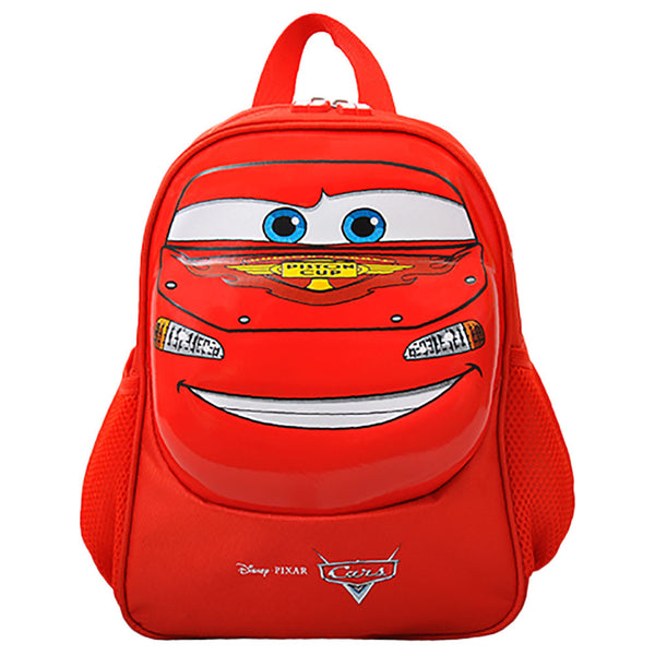 "Disney - Cars Face Backpack 12"" 1 Compartment - Red"
