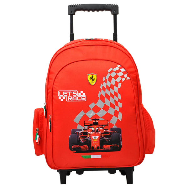 "Ferrari Merchandise - Race Time Trolley Bag 18"" - Red"