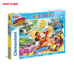 CLEMENTONI Mickey and the Roadster Racers Puzzle - 104 Pieces