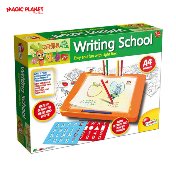 Lisciani Writing School Reading & Writing Learning Box Carotina Edusystem with Light Box