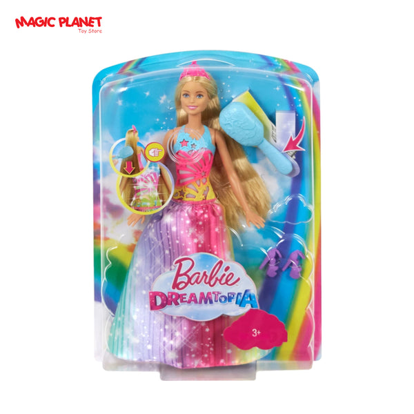Barbie - Barbie Dreamtopia Brush 'n Sparkle Princess Doll - Blue, Pink, Yellow