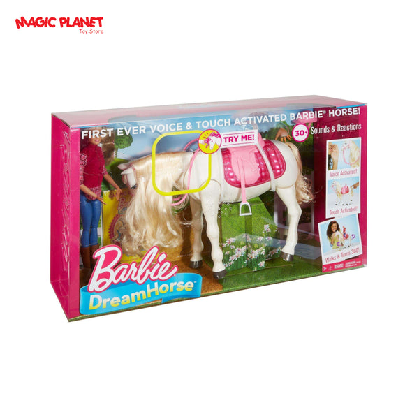 Barbie DreamHorse & Blonde Doll, Interactive Toy with 30+ Reactions