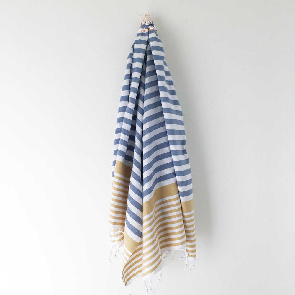 Sofia Turkish Towel Denim Mustard