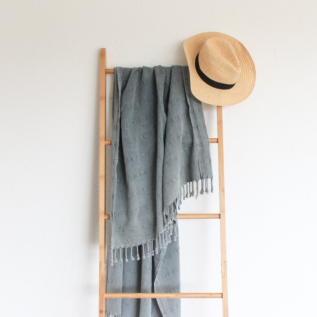 Stonewashed Turkish Towel Ash