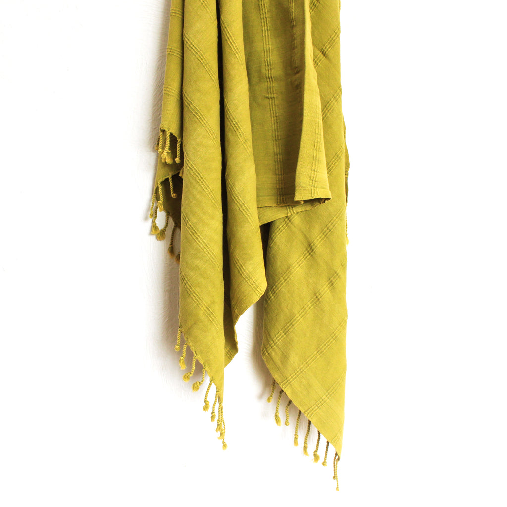 Stonewashed Turkish Towel Pistachio
