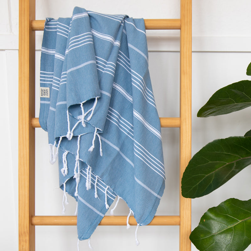 Classic Turkish Towel Aegean Blue - NEW